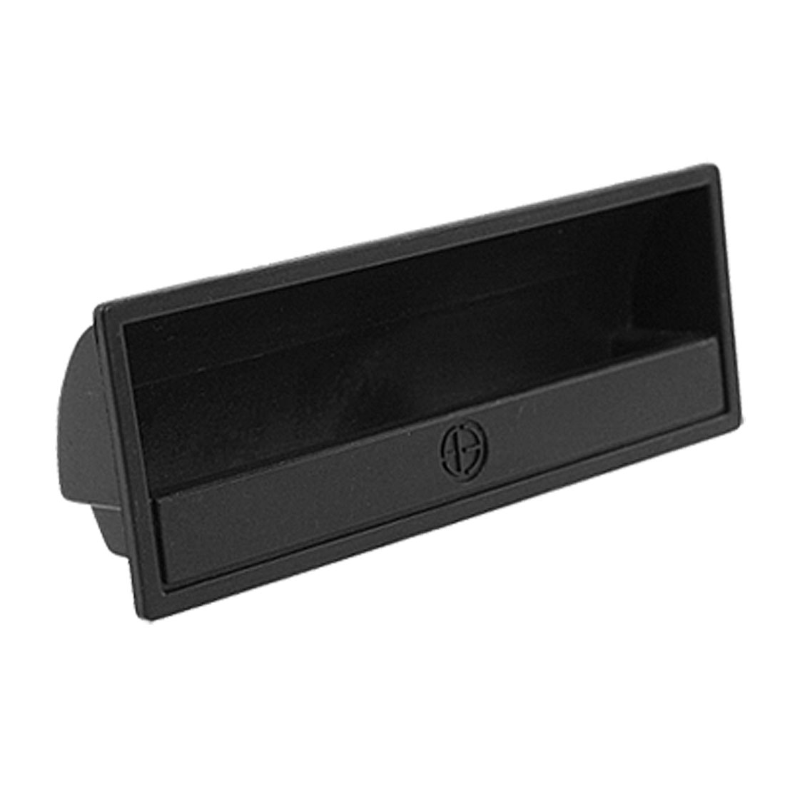 Rectangular Black Plastic Flush Pull Handle for Cabinet