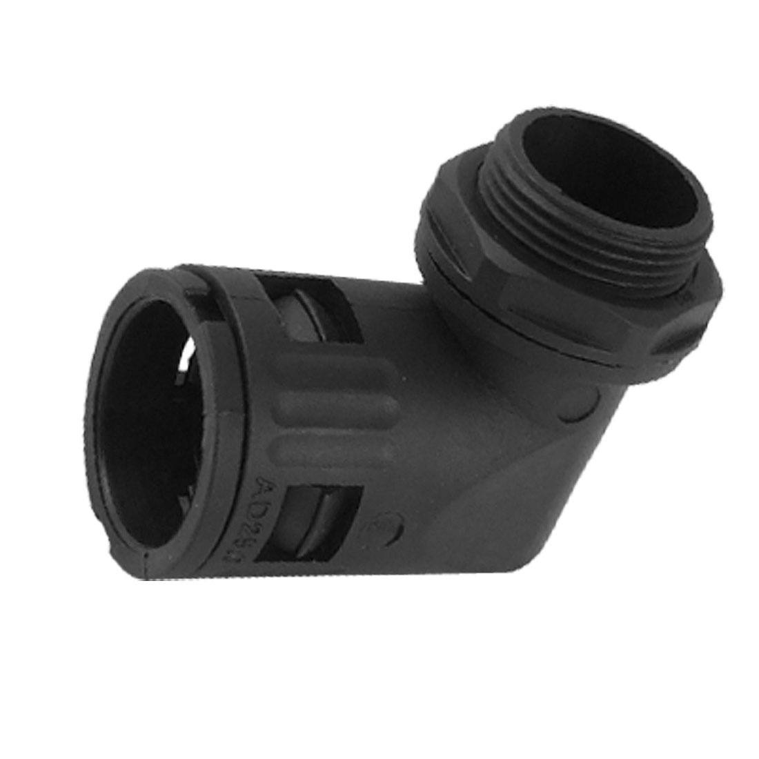 Black Plastic 24.5mm Male Thread Flexible Conduit Pipe Elbow Quick Fittings