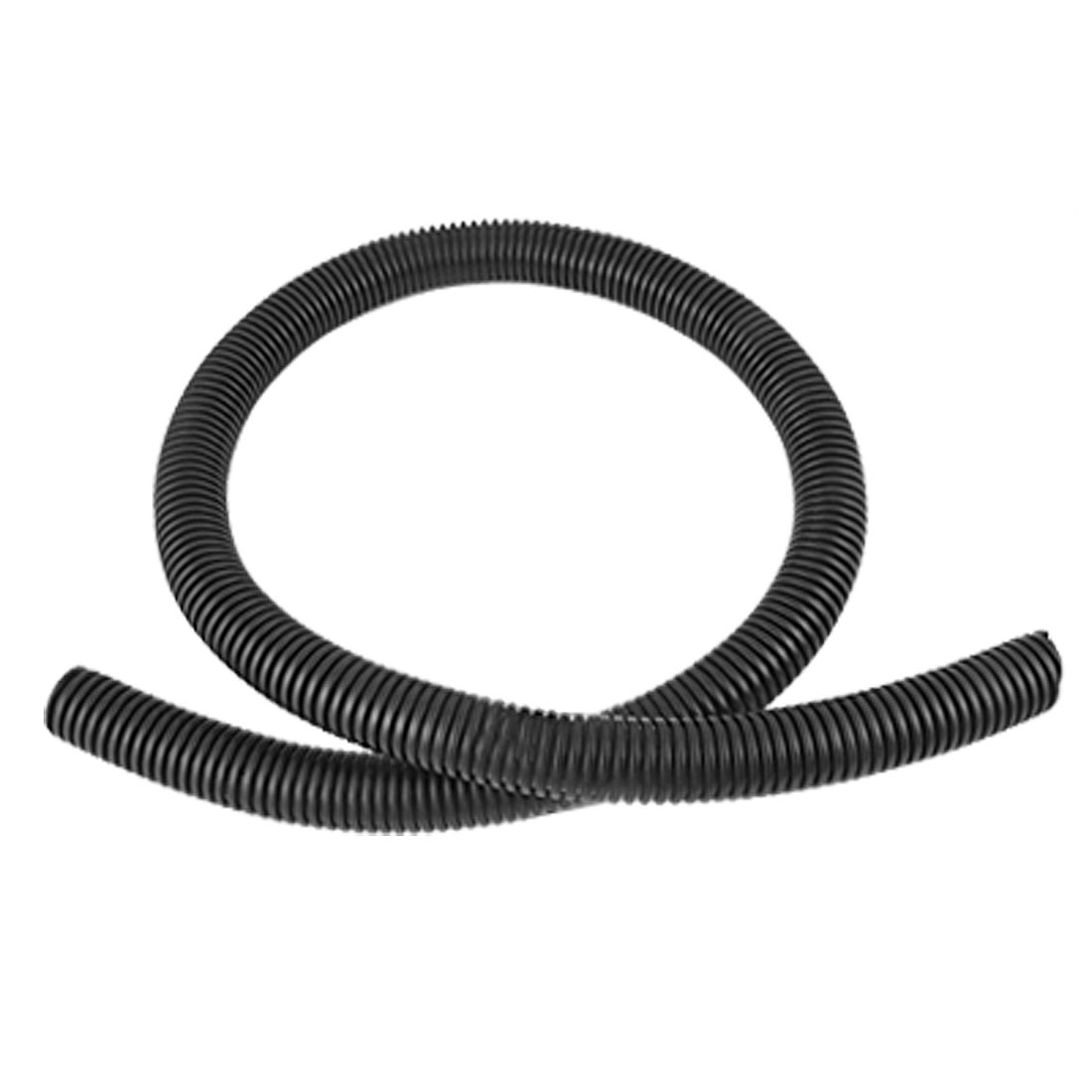 1M 20mm Inner Diameter Plastic Corrugated Tube Electric Conduit Pipe Black