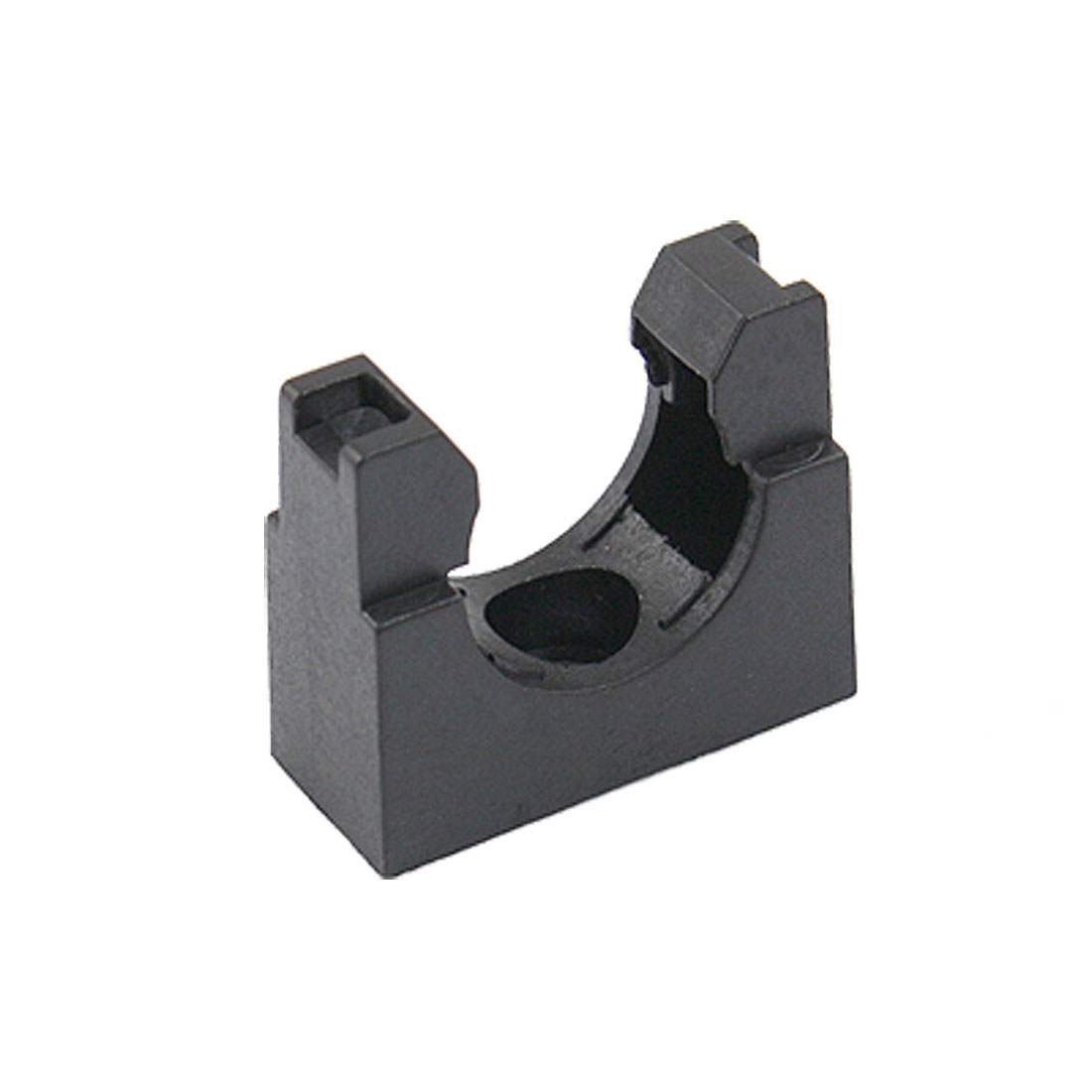 Black Plastic Mounting Bracket for 22mm Corrugated Conduit