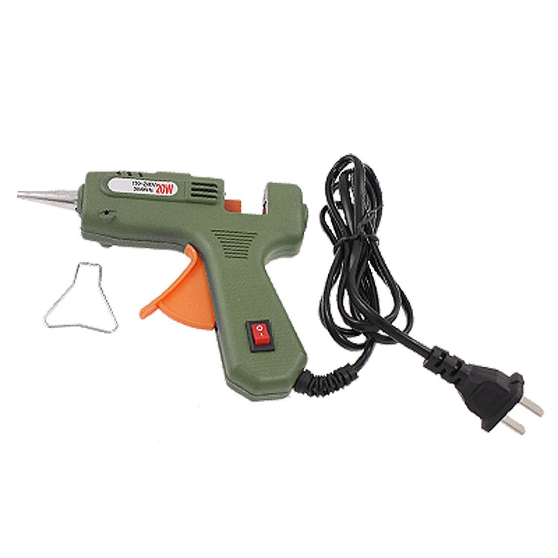 US Plug AC 110-240V 20W Green Trigger Hot Melt Glue Gun Tool