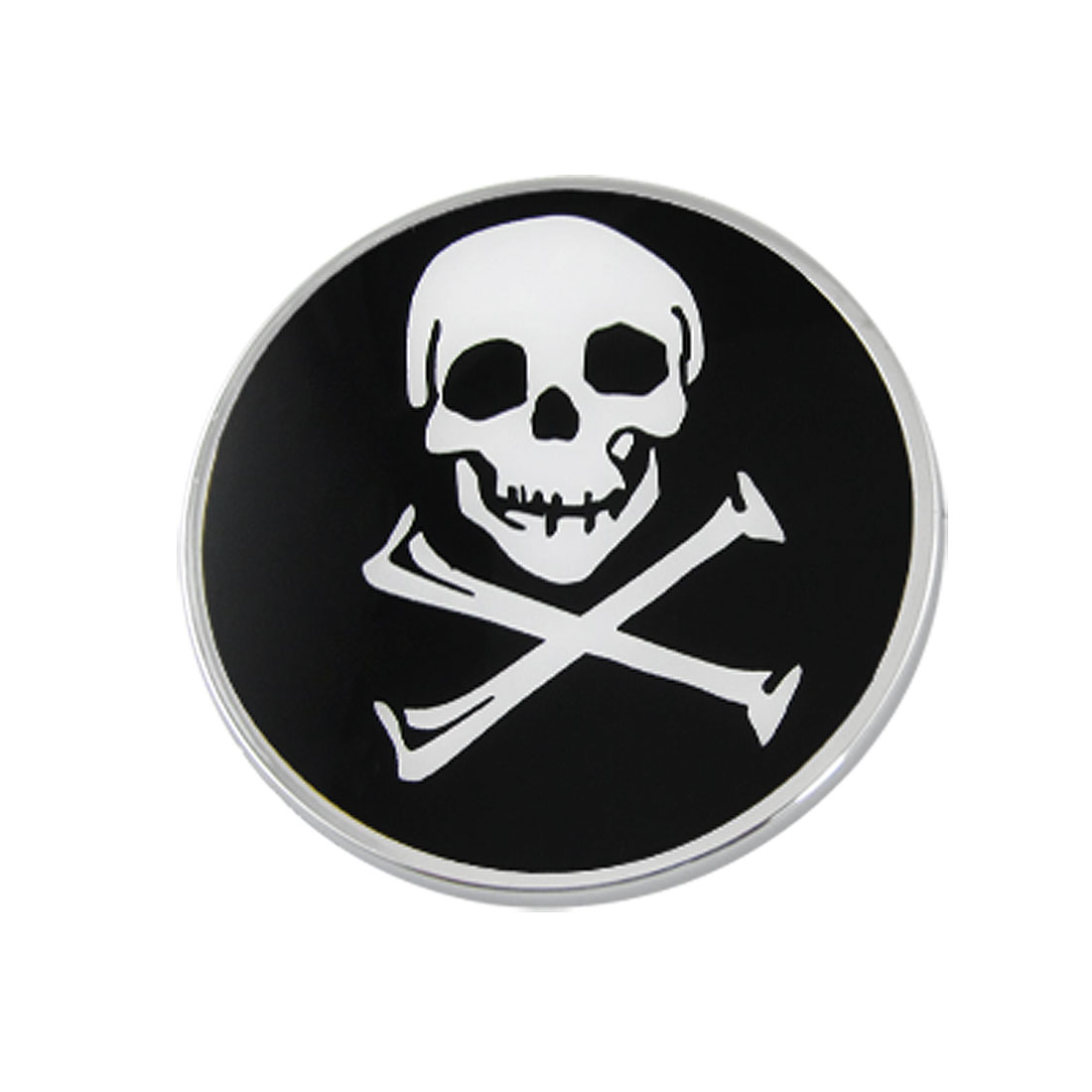 Black White Skull Heads Printted Sticker Decor for Car