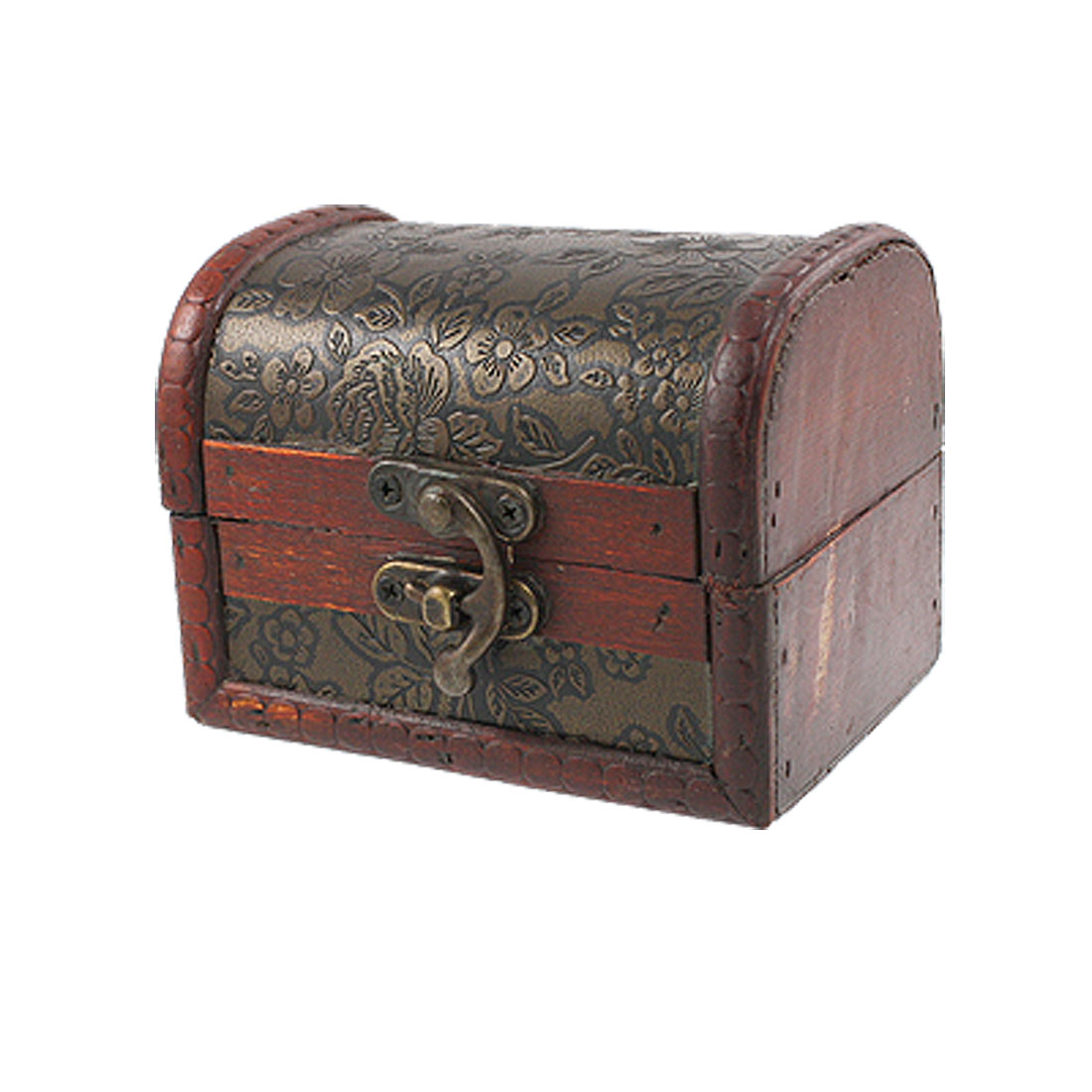 Embossed Flower Hand Painted Lacquer Wooden Jewelry Storage Box