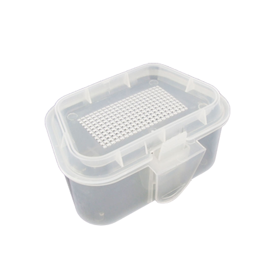 White Nonclip Cover Laddershaped Plastic Fishing Tackle Bait Case Box