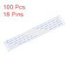100 Pcs 100mm Long 16 Pins 1mm Pitch A Type Flexible Flat Cables