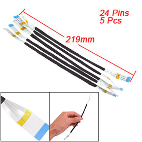 5 Pcs 219mm Length 24 Pins 0.5mm Pitch Flexible Flat Cables AWM 20624 80C 60V VW-1