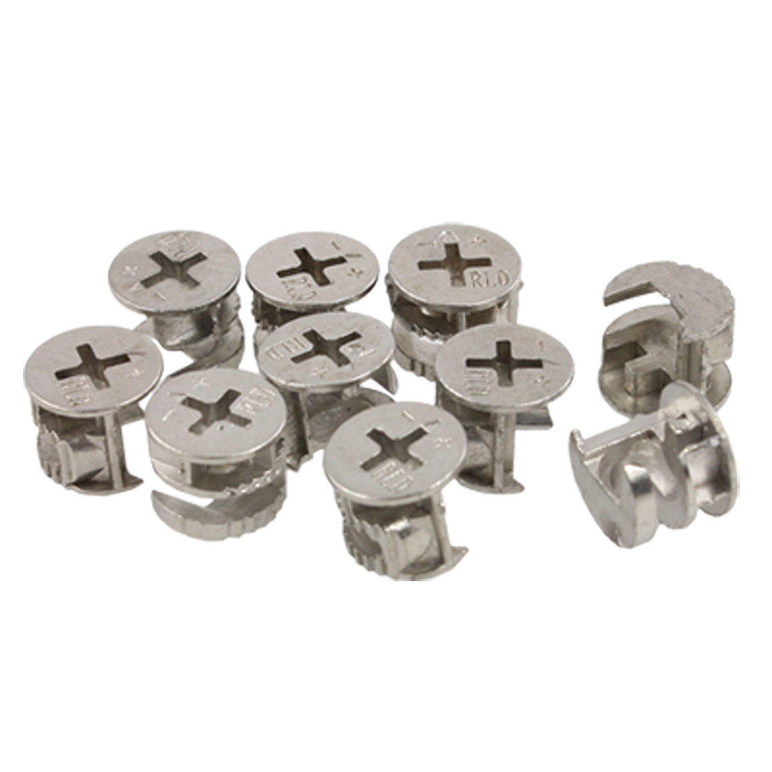 "14.4mm 0.567"" Dia Metal Furniture Cam Fittings 10 Pcs"