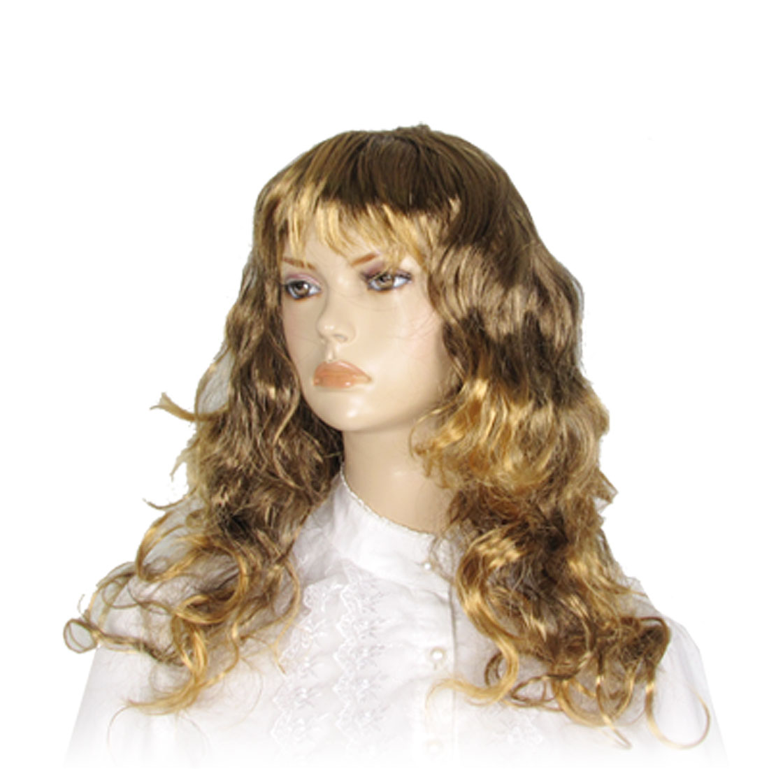 Cosplay Yellow Curly Hair Wig Hairpiece w Bangs