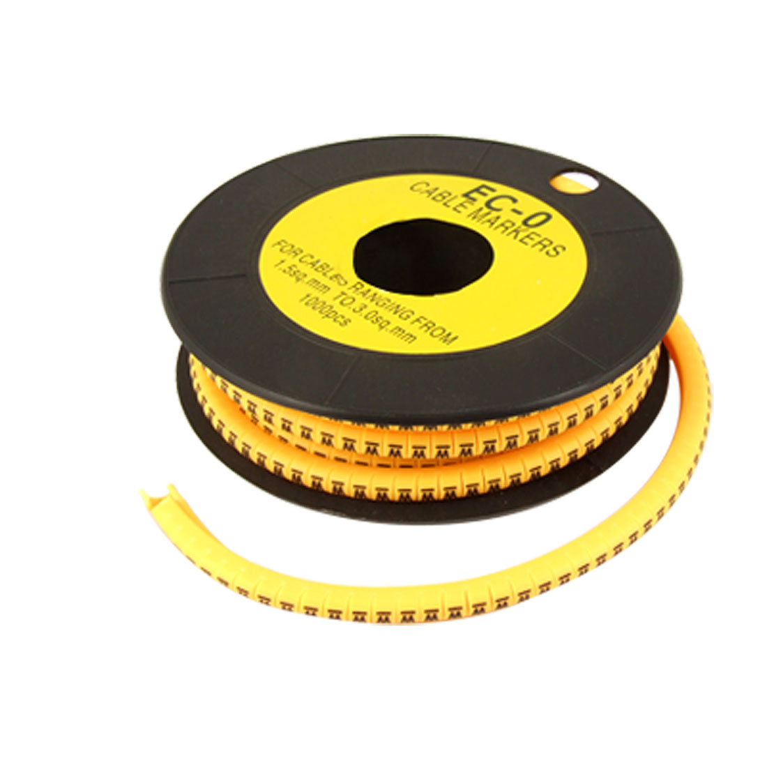 1000 Pcs Grapheme W EO-O Type Cable Marking Markers Yellow