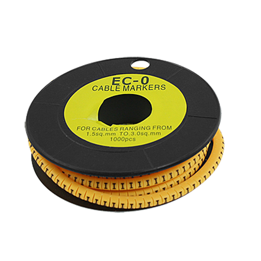 1000 Pcs in 1 3.5mm EC-0 Yellow F Type Flexible Cable Markers
