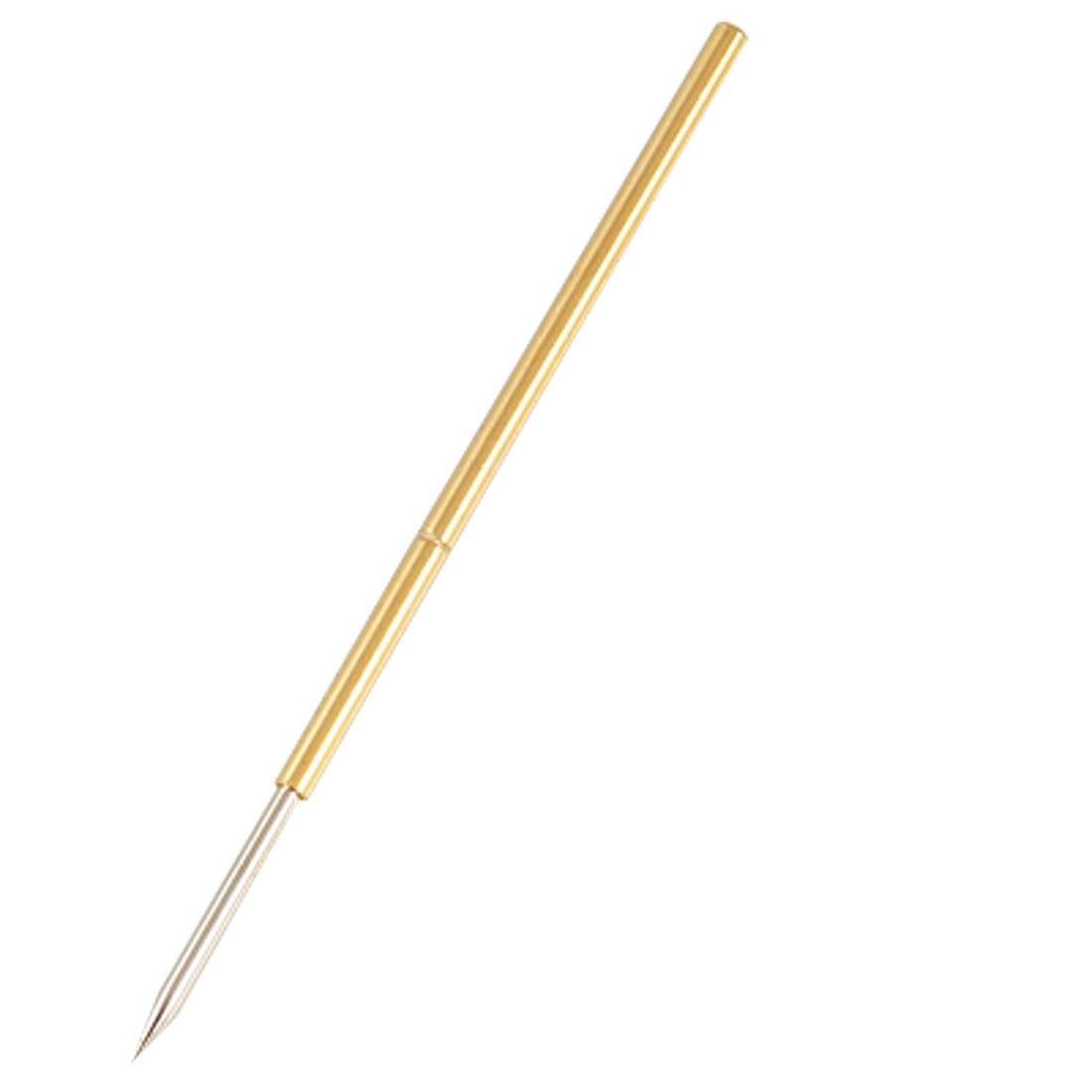 P111-B Gold Tone Spear Tip Spring Test Probes Pins 100 Pcs