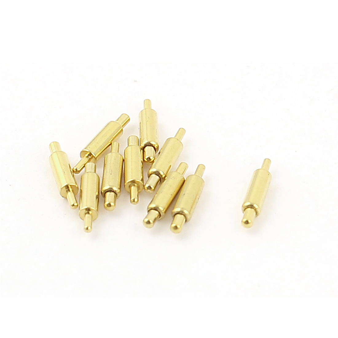 10 Pcs 0.87mm Dia Round Tip Spring Loaded Test Probes Pins