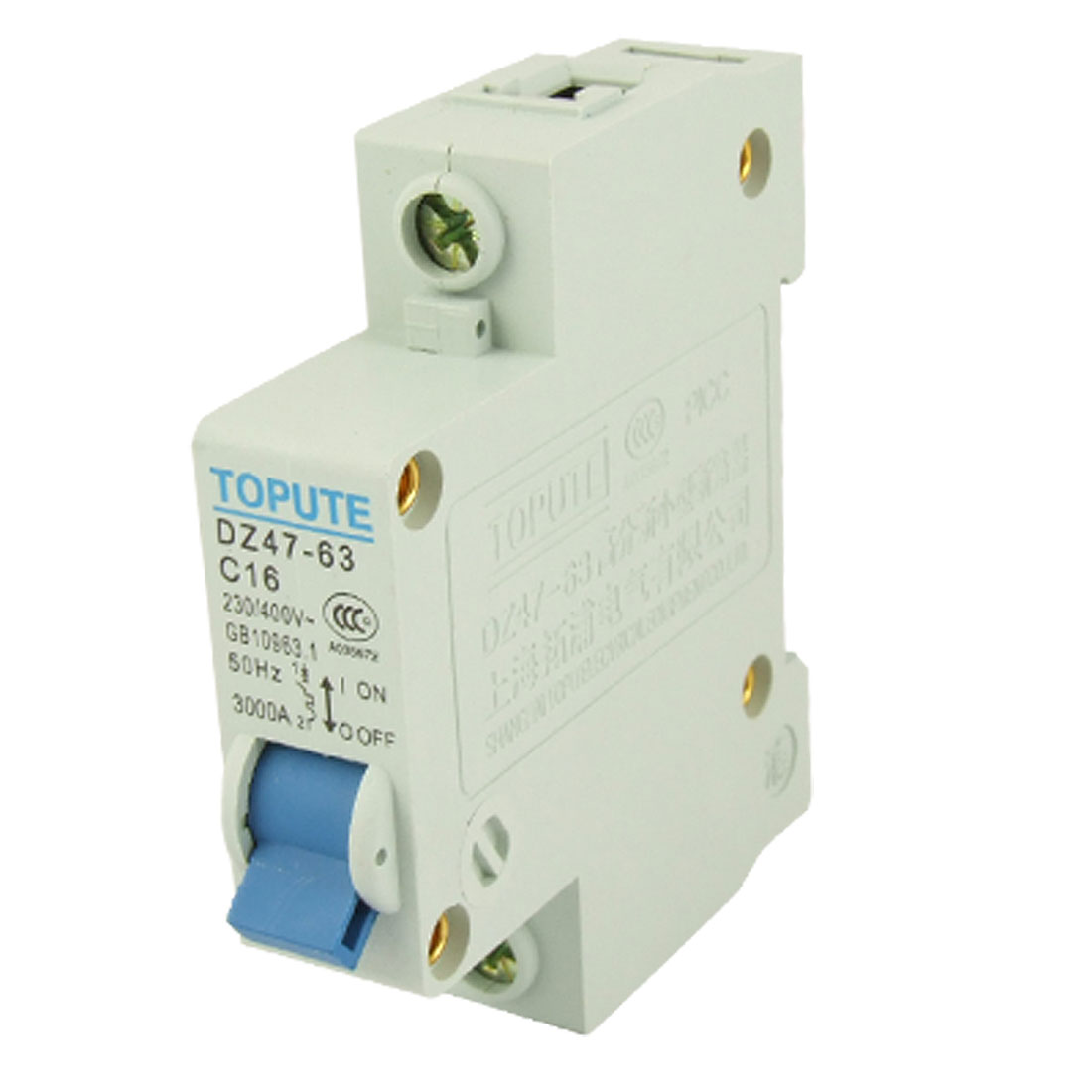 Rated Current 16A AC 400V Single Pole Mini MCB Air Circuit Breaker