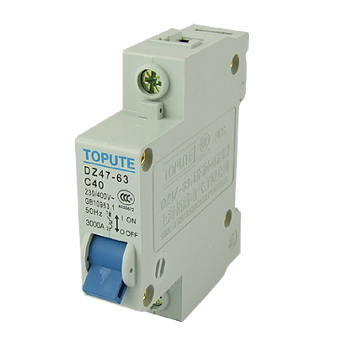 DZ47-63 C40 Single Pole Miniature Circuit Breaker Auxiliary Switch