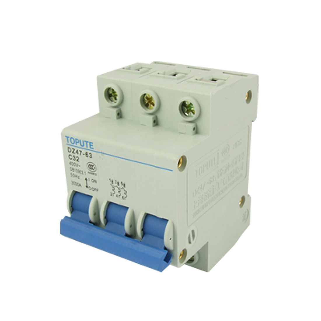 AC 400V Rated Voltage Three Pole 32A Circuit Breaker