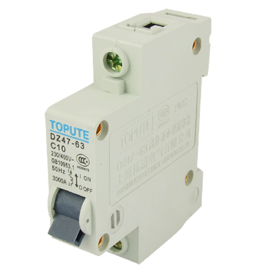 10A Rated Current Single Pole MCB Miniature Circuit Breaker