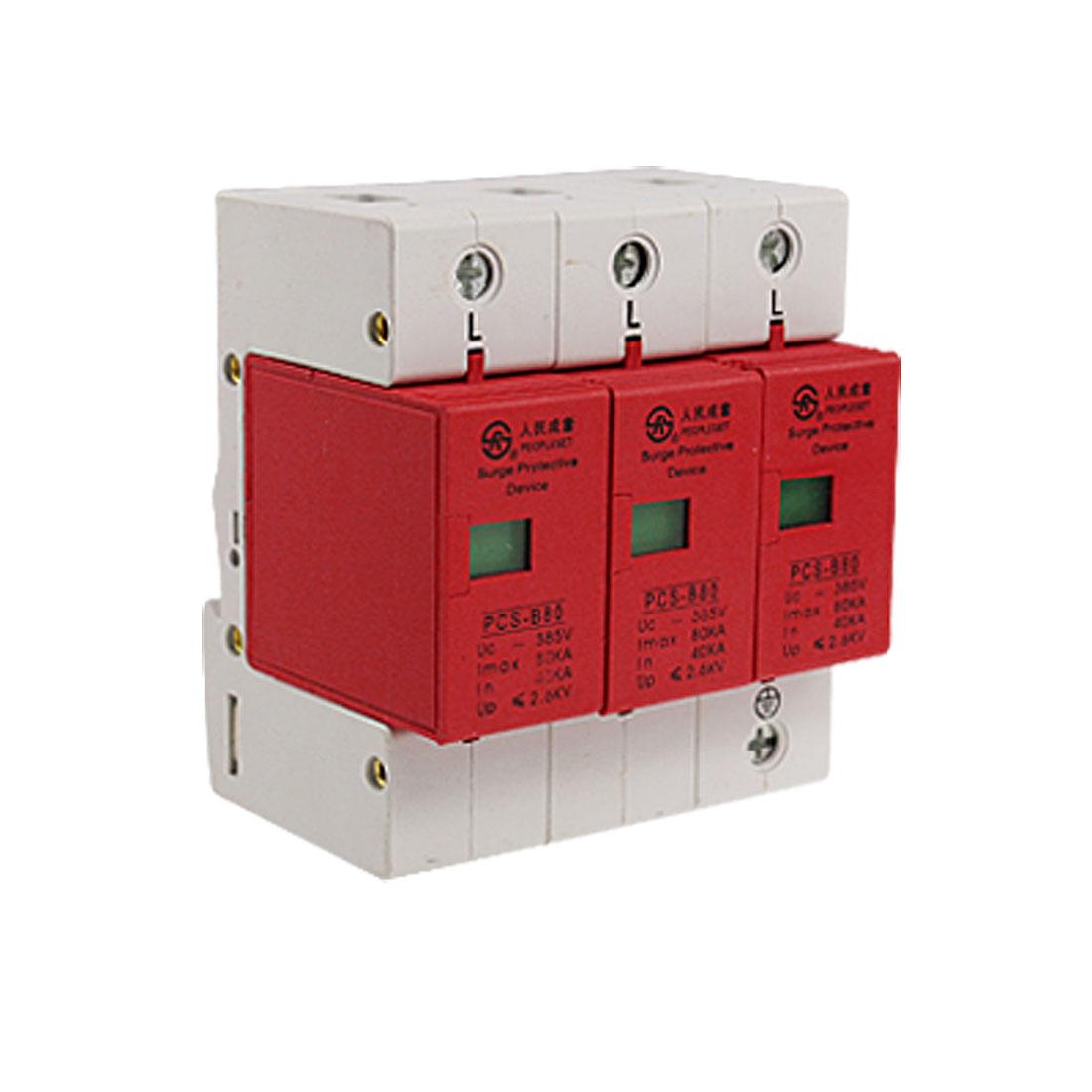 AC 385V 80KA 3P Power Supply System Protective Surge Arrester