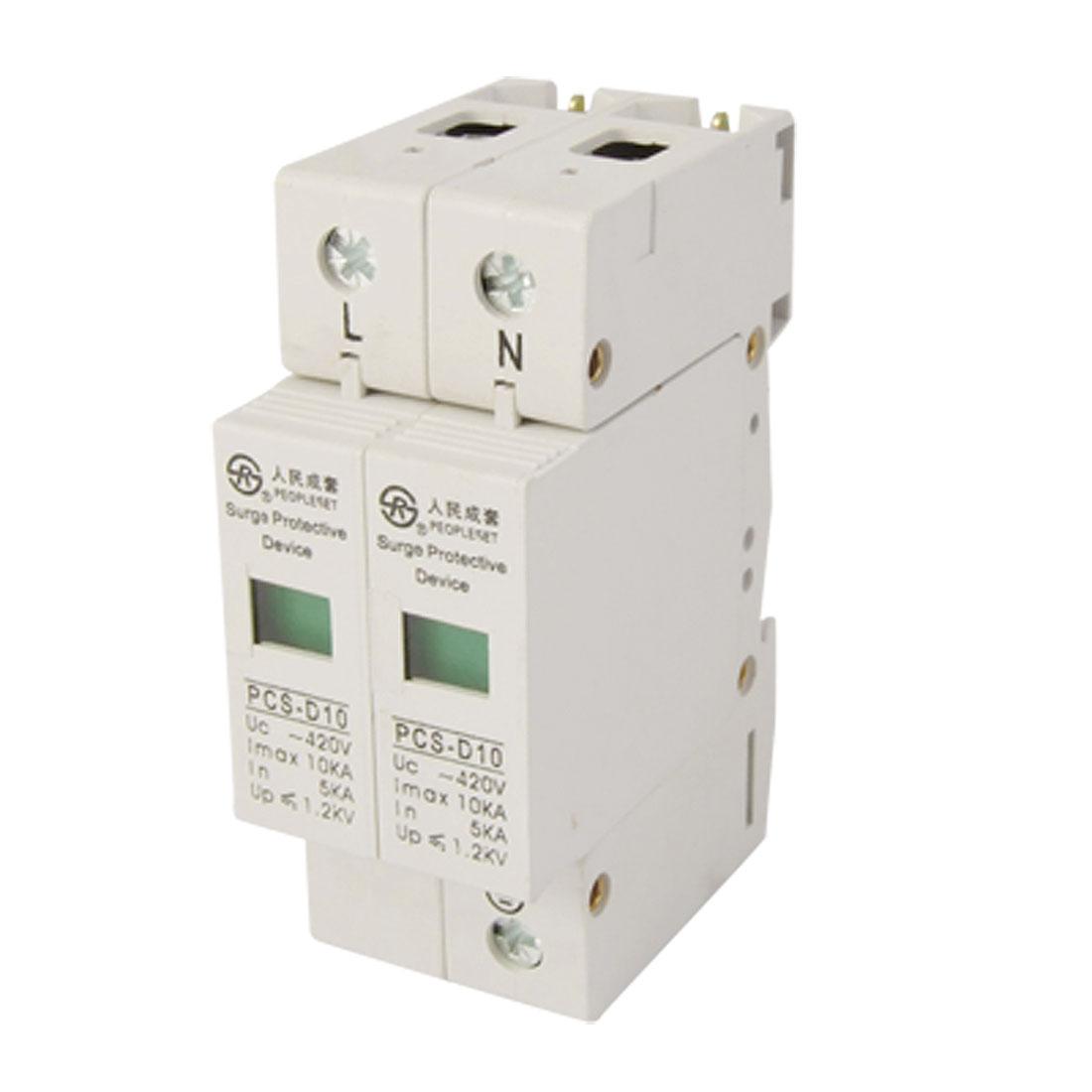Photovoltaic 2 Pole 10KA 420VAC Surge Protection Device