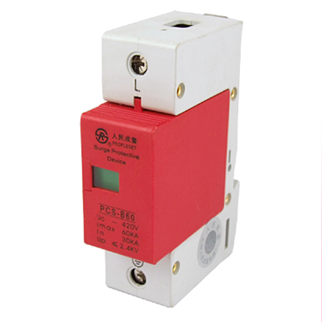 Power Security Single Phase Surge Arrester 60KA 420VAC
