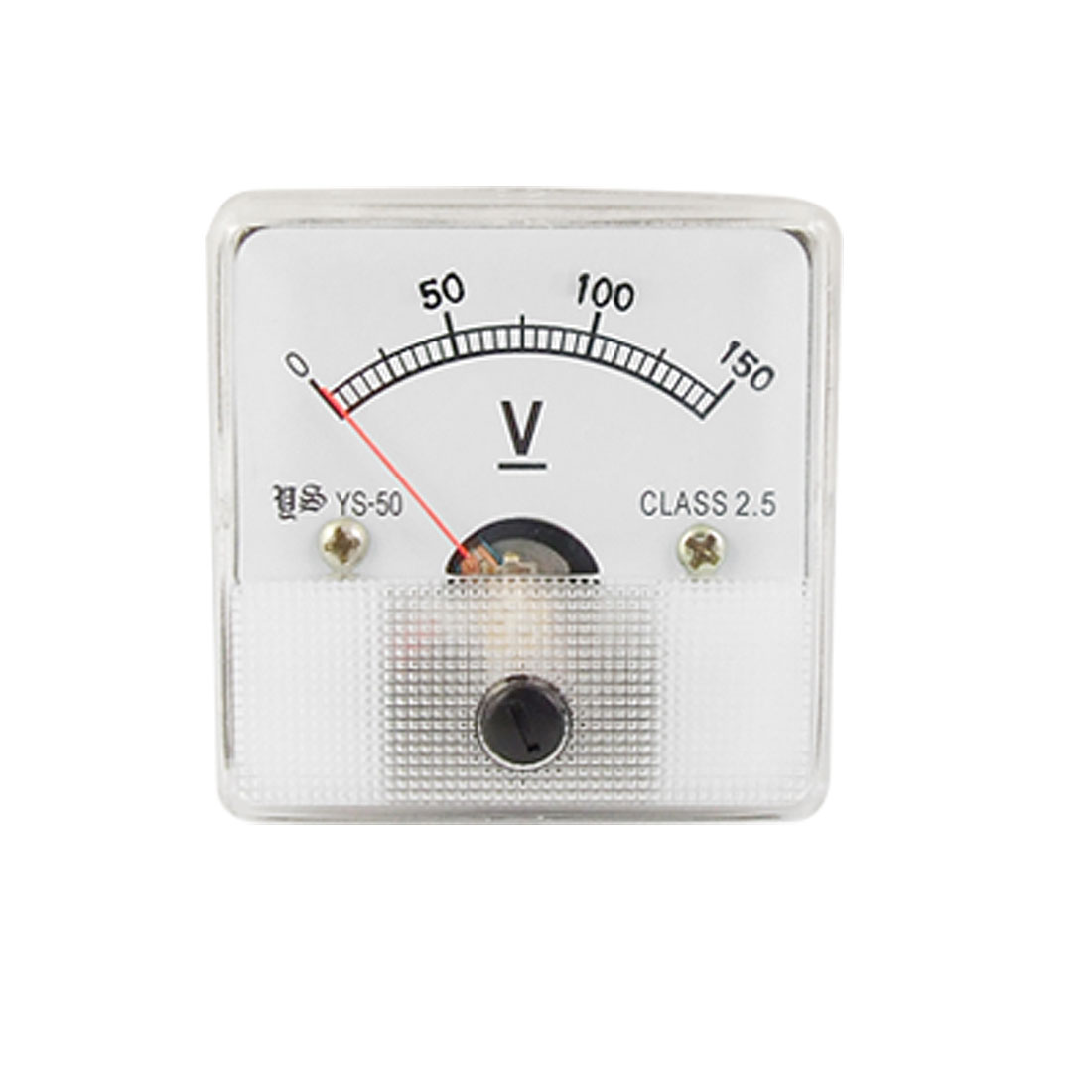 YS-50 Square Plastic Clear Face DC 0-150V Voltage Panel Meter