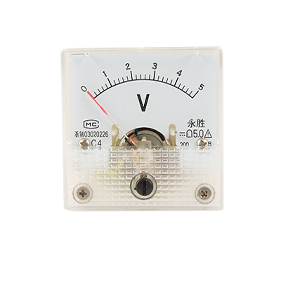 Mini Square DC 0-5V Analog Volt Panel Meter Voltmeter