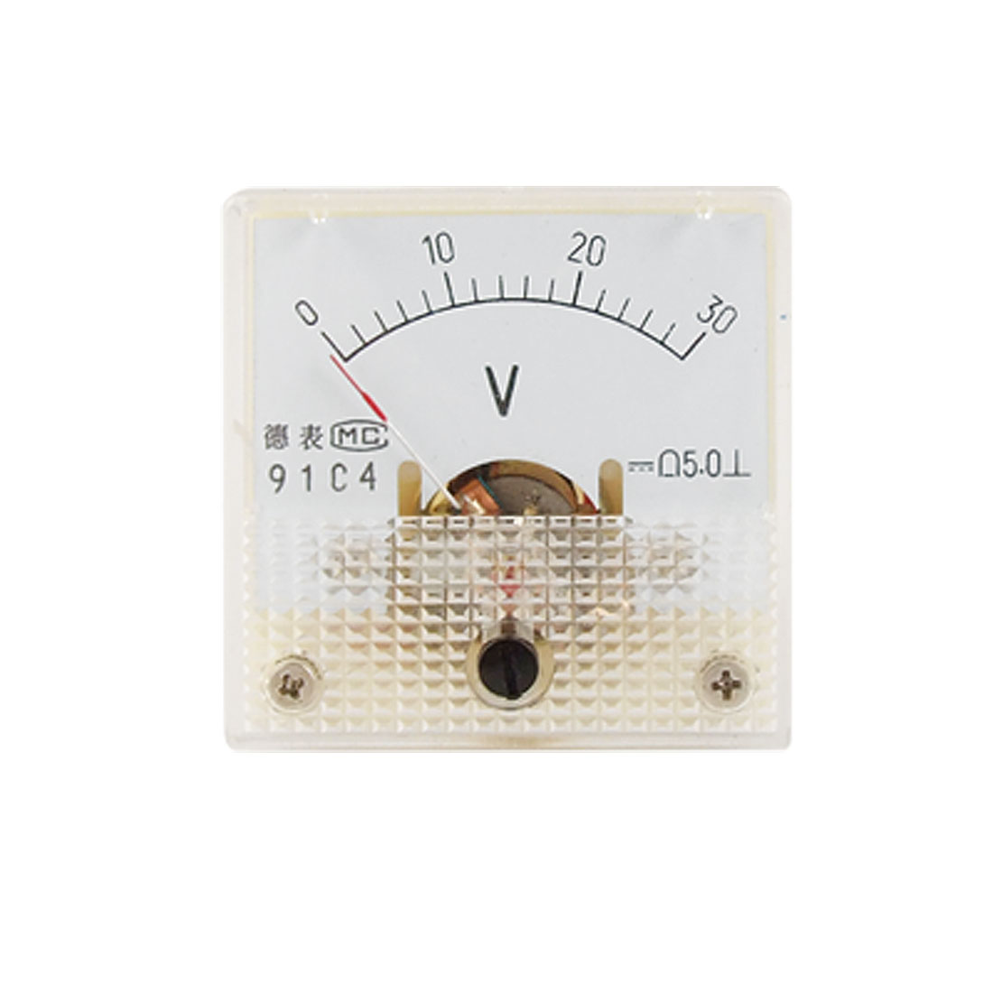 91C4 DC 0-30V Voltage Square Analog Voltmeter Panel Gauge