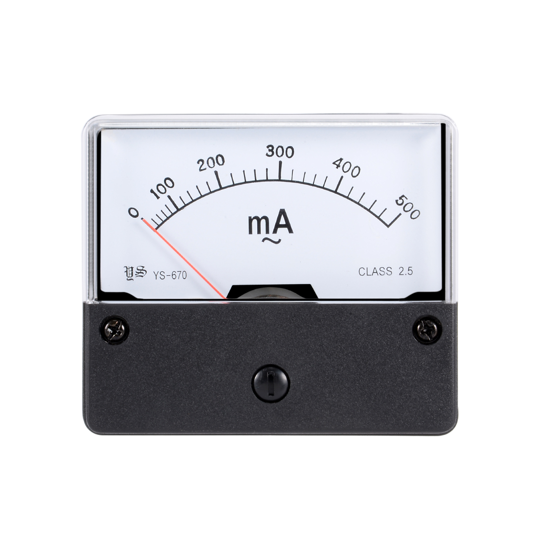 Plastic Housing AC 500mA Analog Ampere Panel Meter Ammeter YS-670