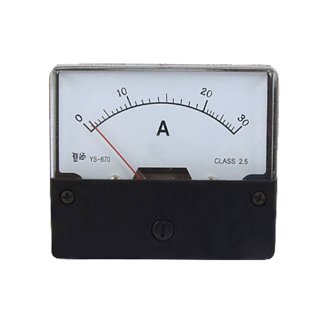 AC 30A Rectangular Panel Analog Ampere Meter Ammeter YS-670