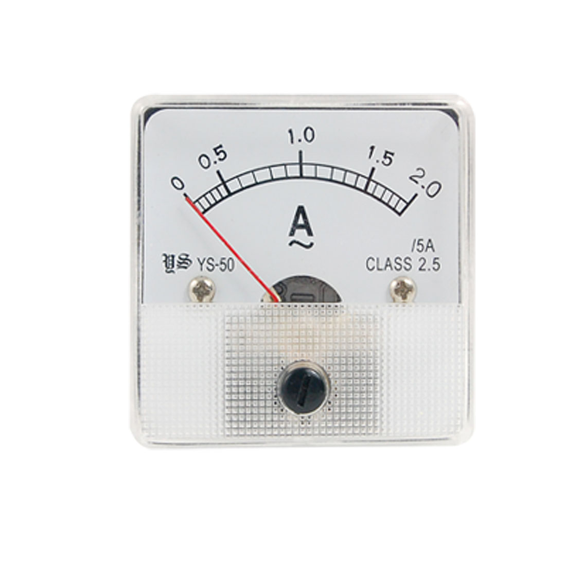 AC 0-2A Class 2.5 Accuracy Squared Panel Analog Ampere Meter Ammeter YS-50