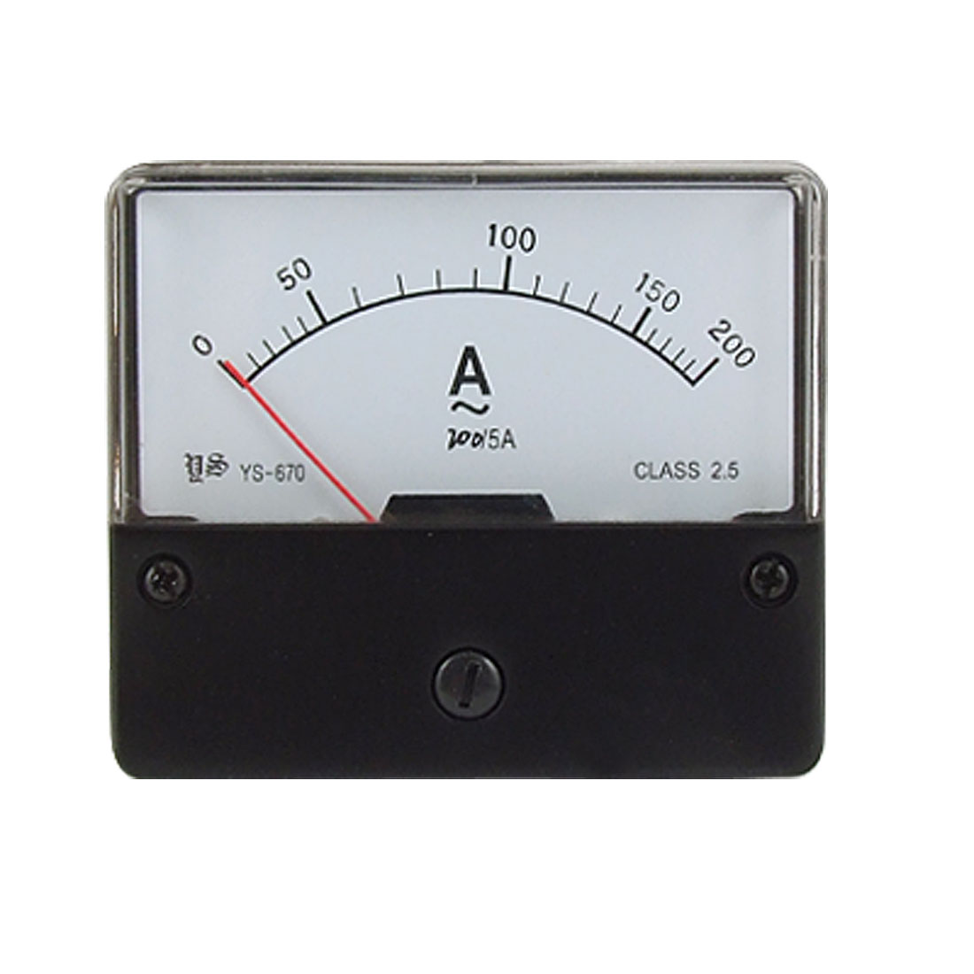Class 2.5 Accuracy Rectangular Panel Analog Meter Ammeter AC 200A YS-670