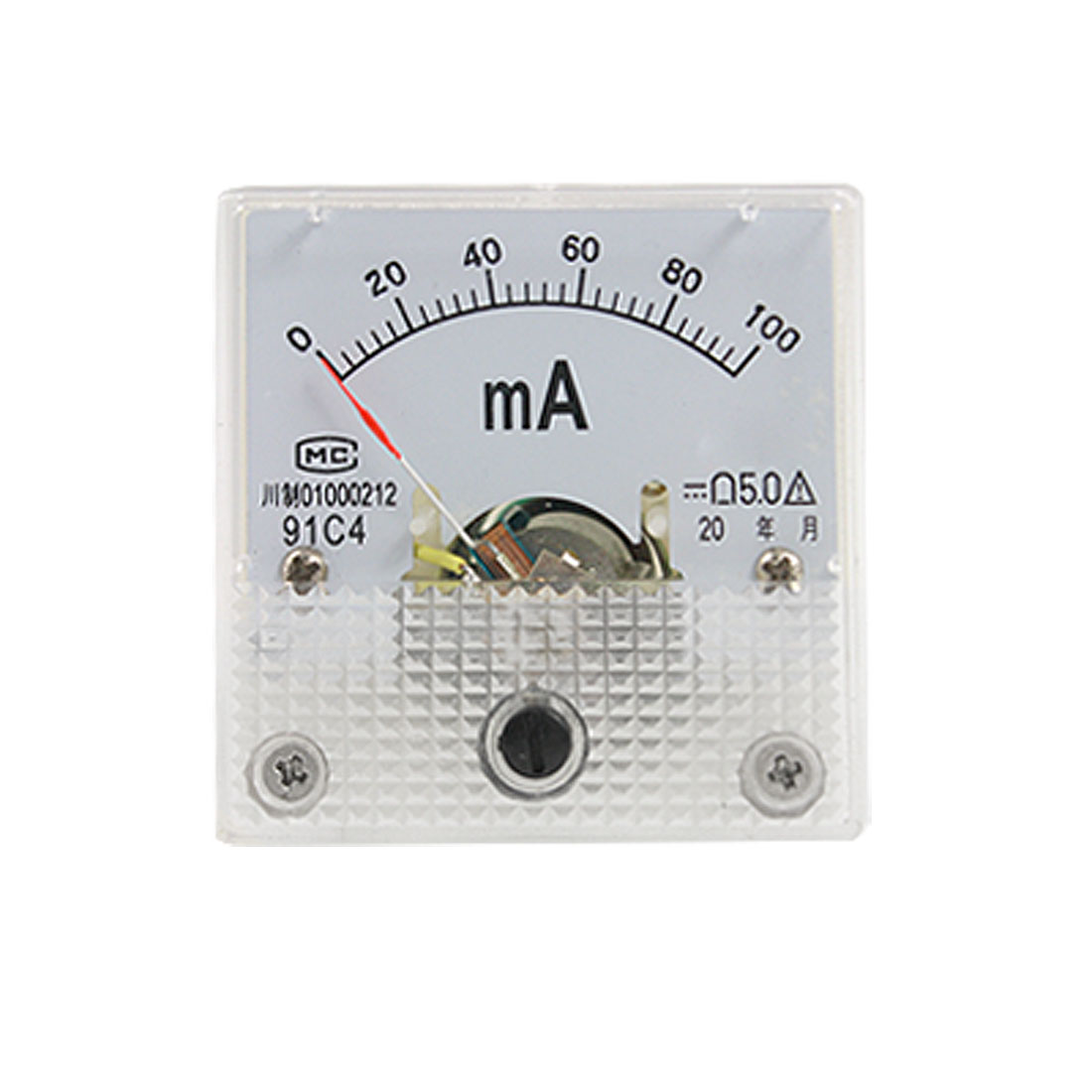 Class 5 Accuracy DC 0-100mA Current Panel Ammeter 91C4