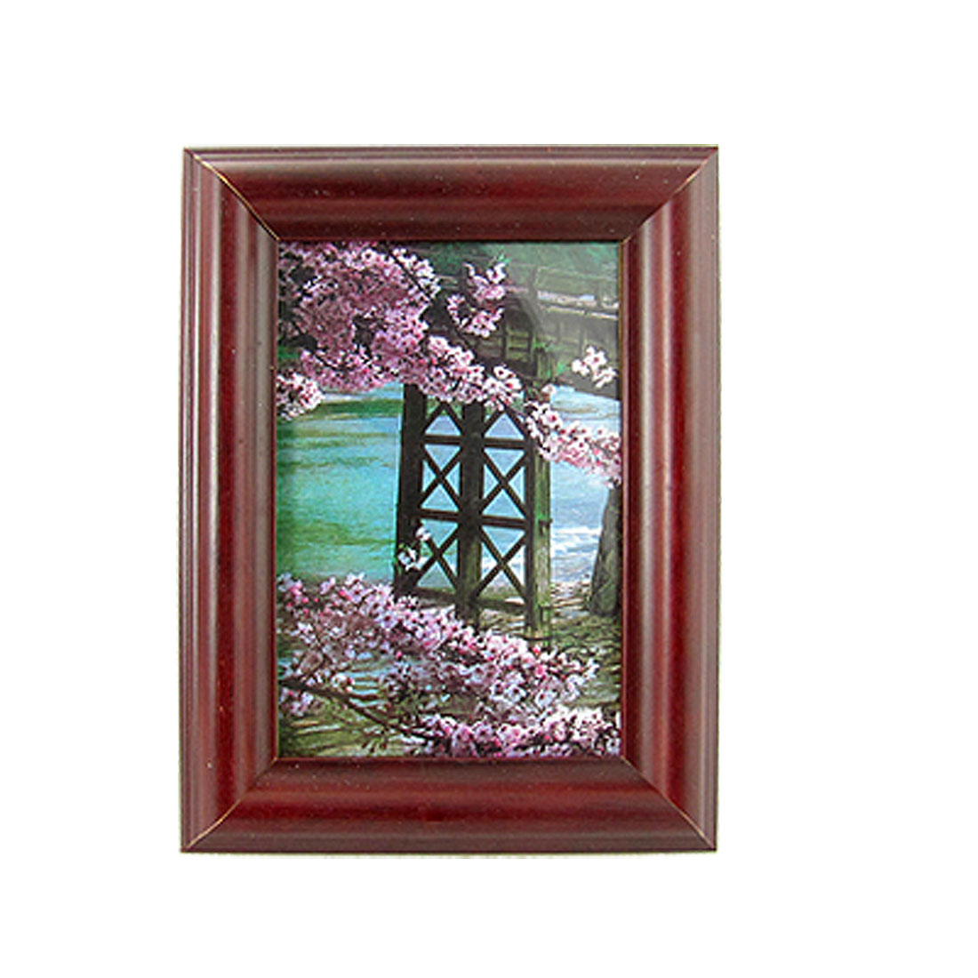 Removable Stand Leg Picture Photo Table Wall Wood Frame Holder