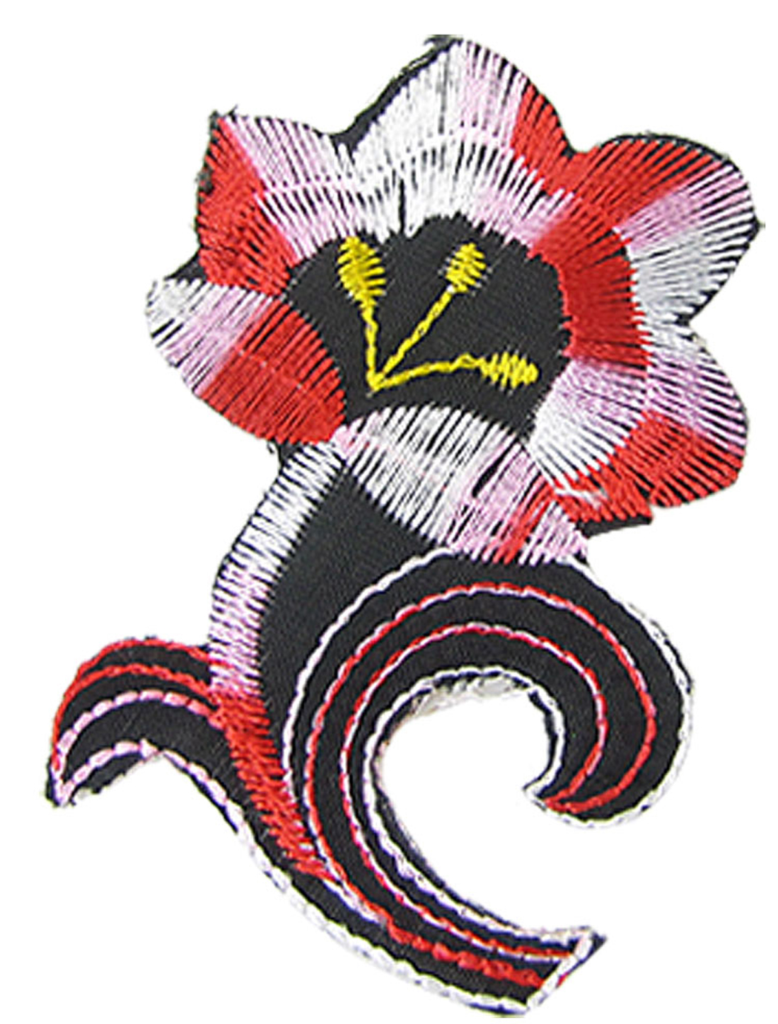 Clothes Decor Embroidered Sticker Tricolor Flower Patch