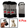 Winter Ribbed Elastic Acrylic Shoes Wear Socks Black Gray for Dog