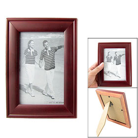 Home Office Desk Rectangular Brown Wooden Picture Photo Frame