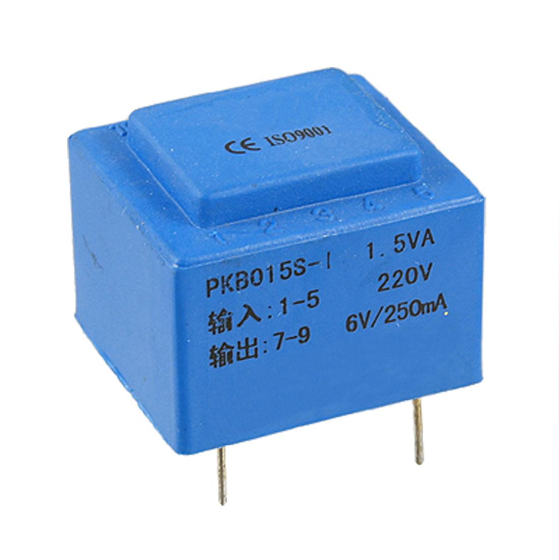 One Secondary 6V Output Encapsulated Power Transformer 1.5VA