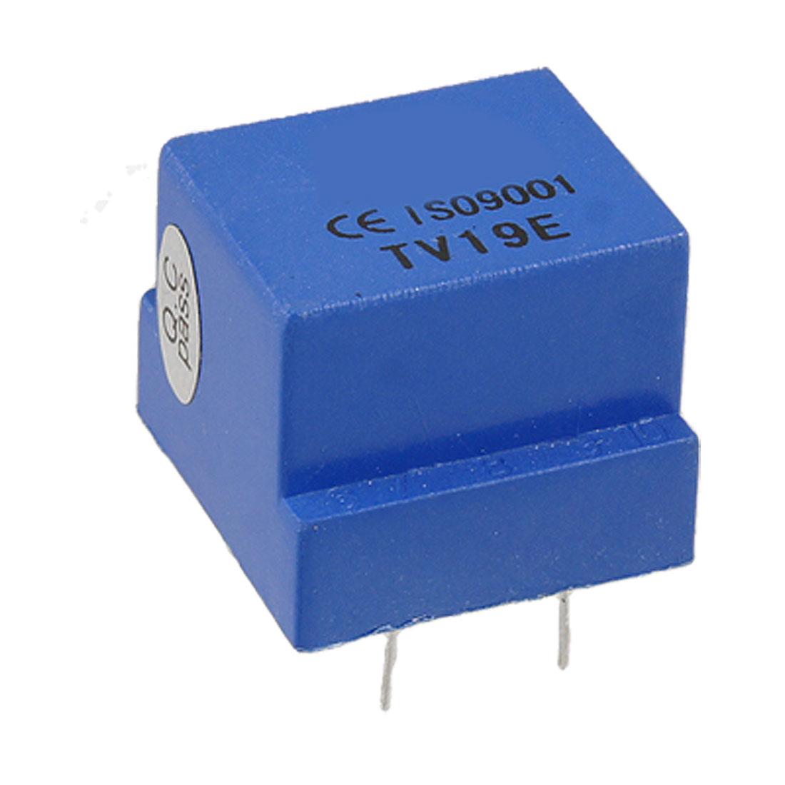 TV19E 4 Pin Enclosed 500ohm Resisitance Voltage Transformer Blue