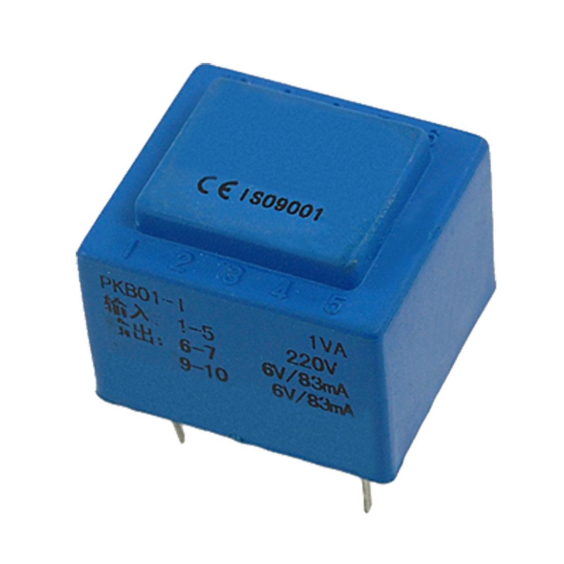 Dual Secondary 1VA Power Encapsulated Transformer Blue Brlzd