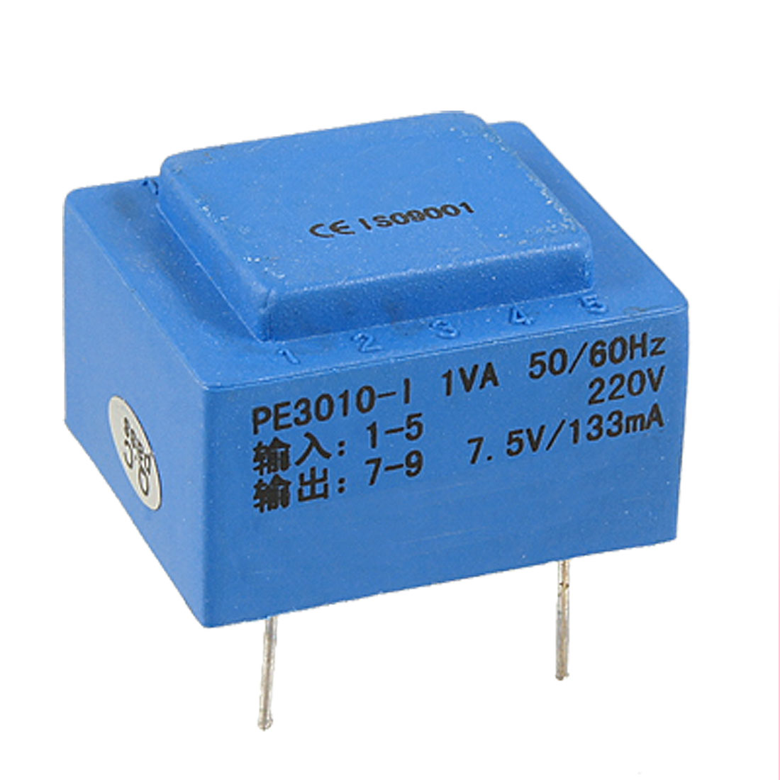 Vacuum Epoxy Resin Sealed Single Way Output Encapsulated Transformer 1VA