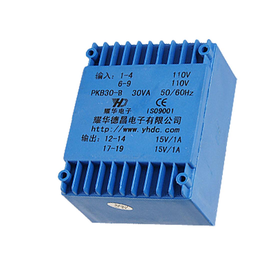 PKB30-B 30VA Encapsulated Power Transformer 15V Output