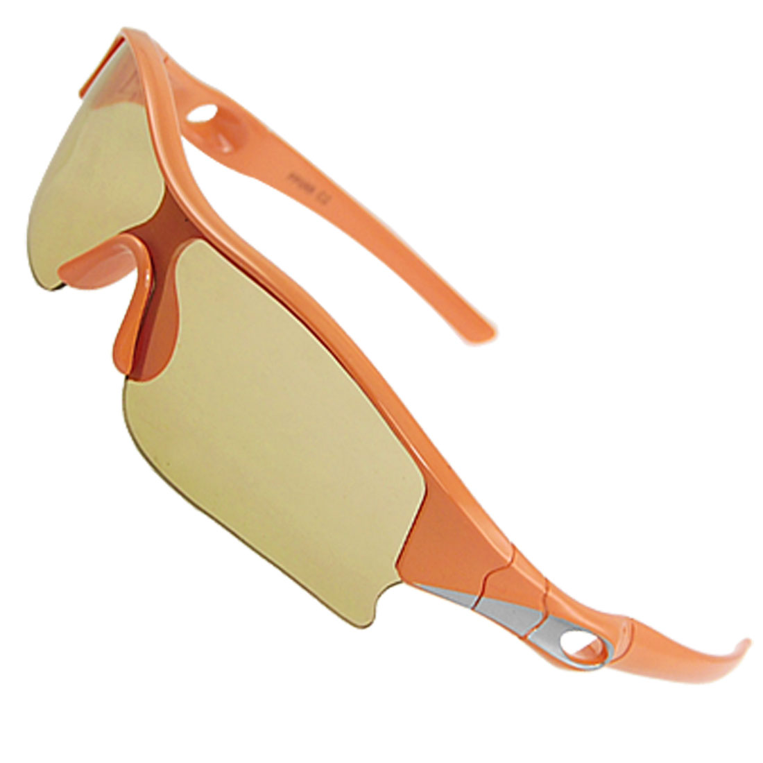 Plastic Single Bridge Colored Lens Sunglasses Orange for Children