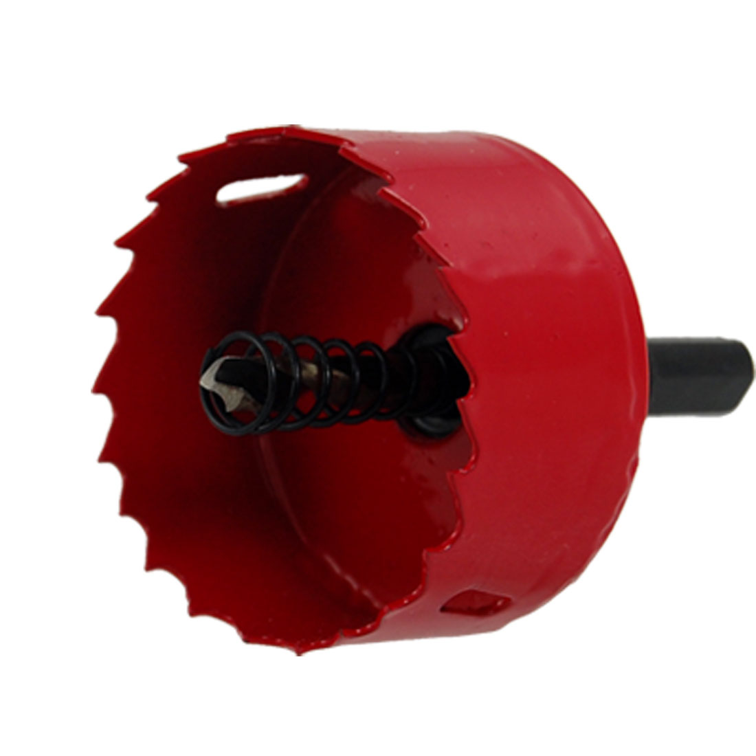 55mm Cutting Diameter Red Bimetal Hole Saw w Twist Drilling Bit