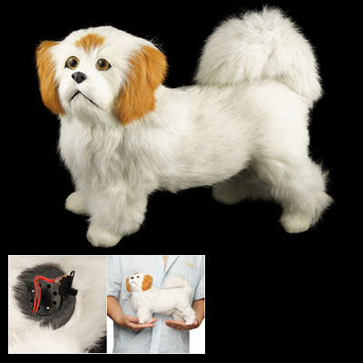 Children Cartoon Animals Toy White Plush Barking Dog Electric Puppy