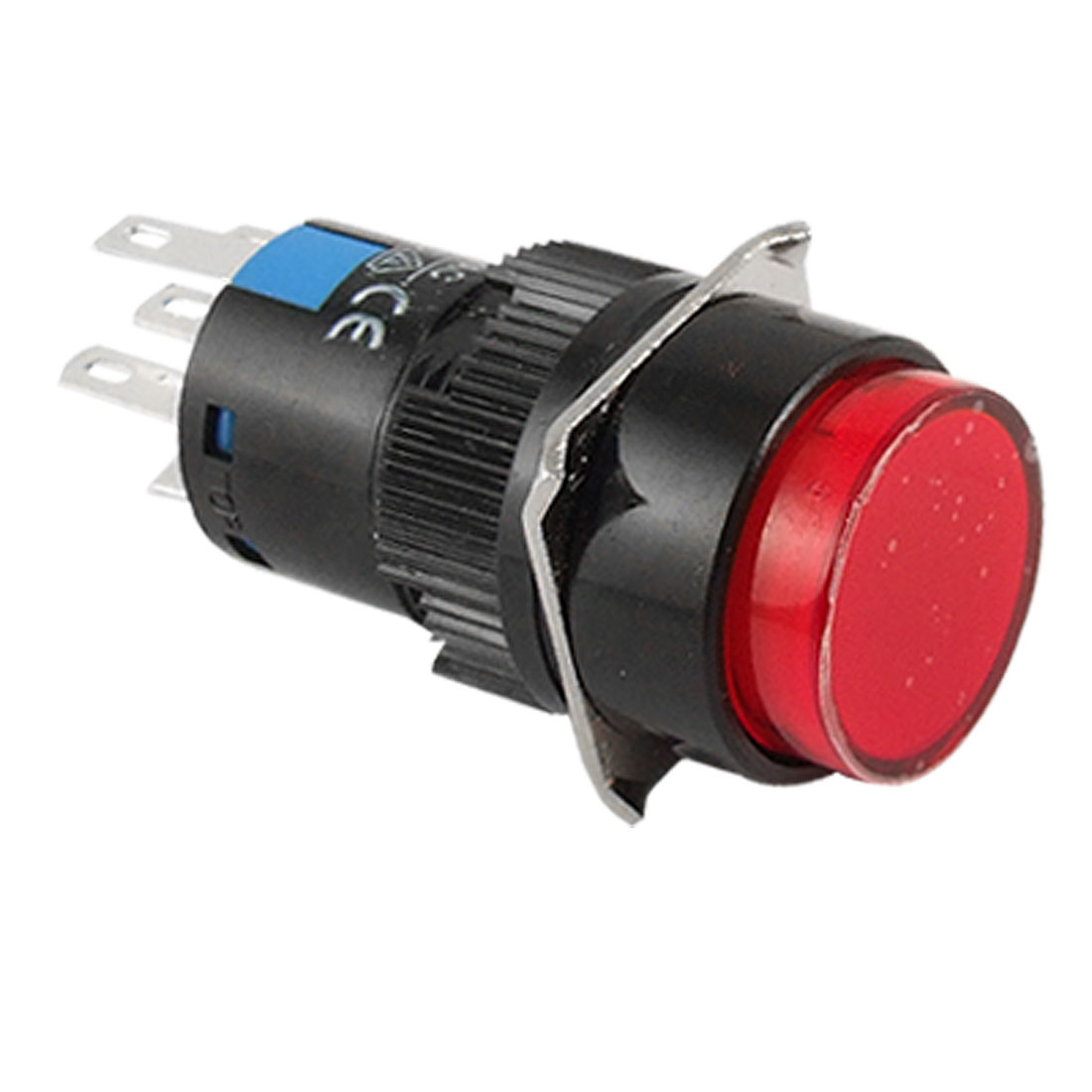 Illuminated 5 Pins AC 220V Red LED Self-locking Push Button Switch