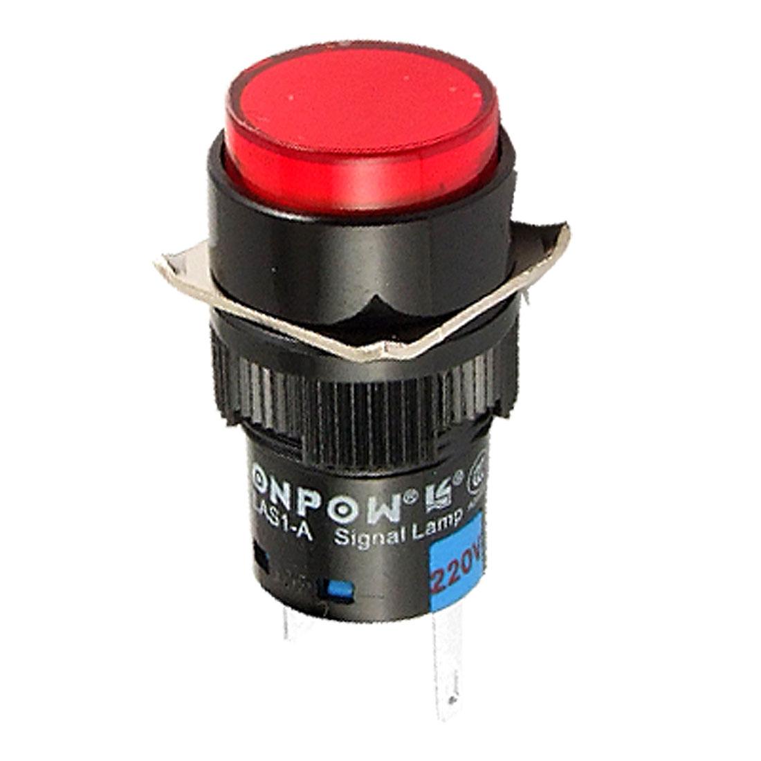 2 Pin Red LED Indicator Pilot Signal Light DC 24V