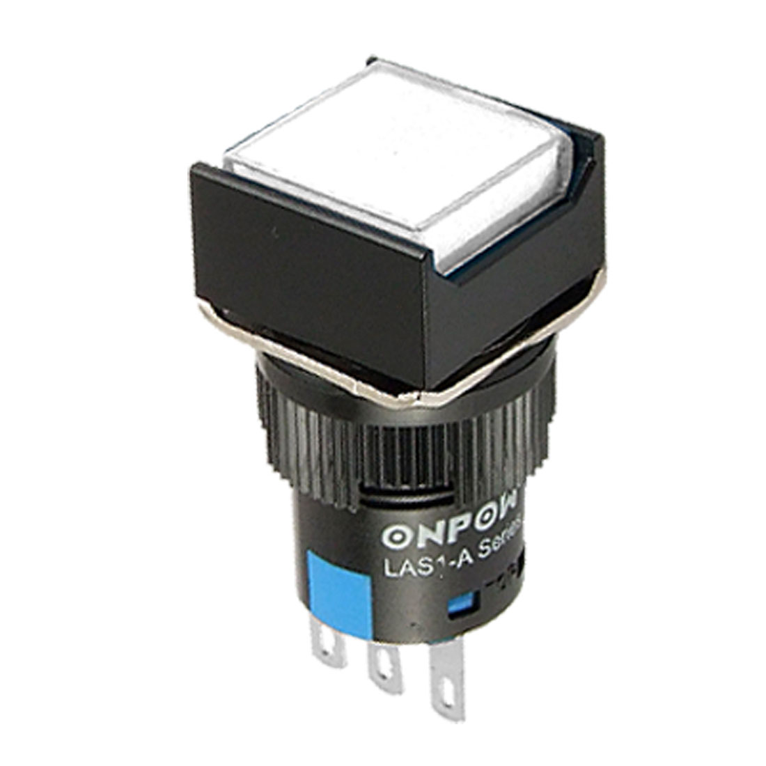 AC 250V White Square Momentary Push Button Switch