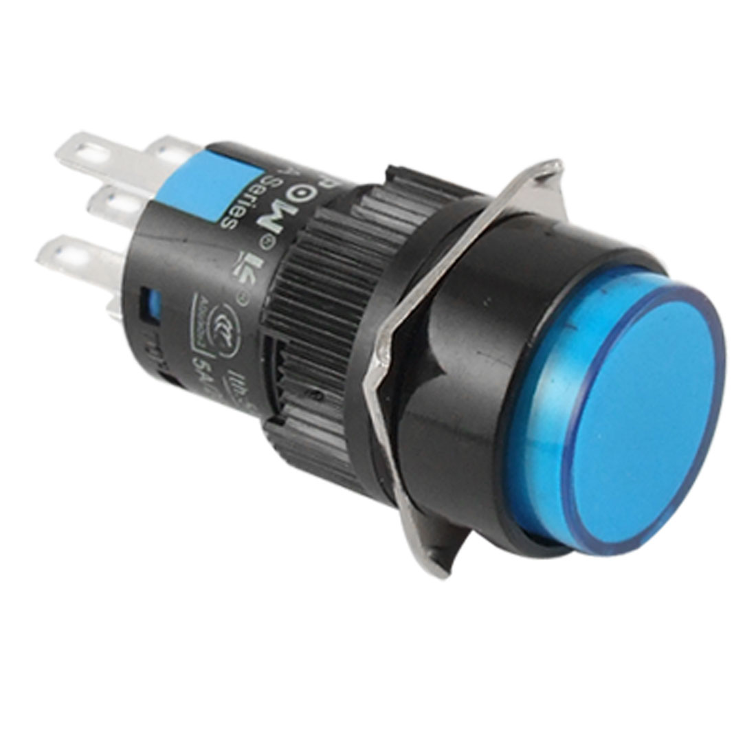 LAS1-A DC 24V Blue Light Illuminated Self-locking Push Button Switch