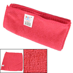 Hot Pink Rectangle Shape Microfiber Cleaning Towel for Car Auto