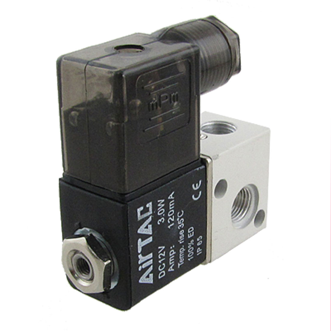 3V1-06 2 Position 3 Way 120mA Pneumatic Solenoid Valve Black