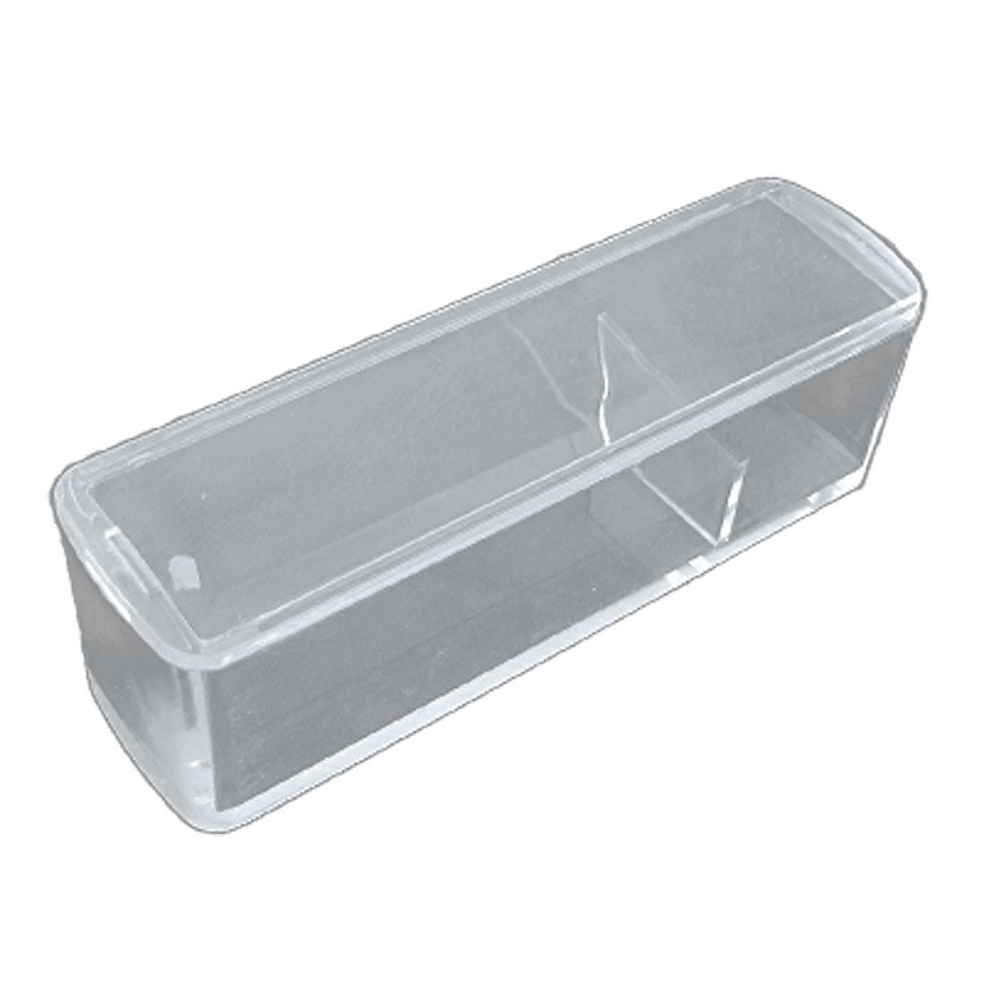 Rectangular Clear Plastic Stamp Stamper Box Storage Case